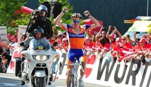 Su primer triunfo profesional en el Tour de Suiza 2011