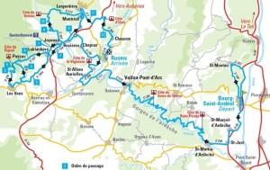 Classic-Sud-Ardeche-Souvenir-Francis-Delpech-mapa