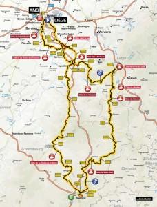 Liege-Bastogne-Liege-mapa