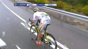 Quintero escapado en Ponferrada-fOTO:www.ciclismointernacional.com