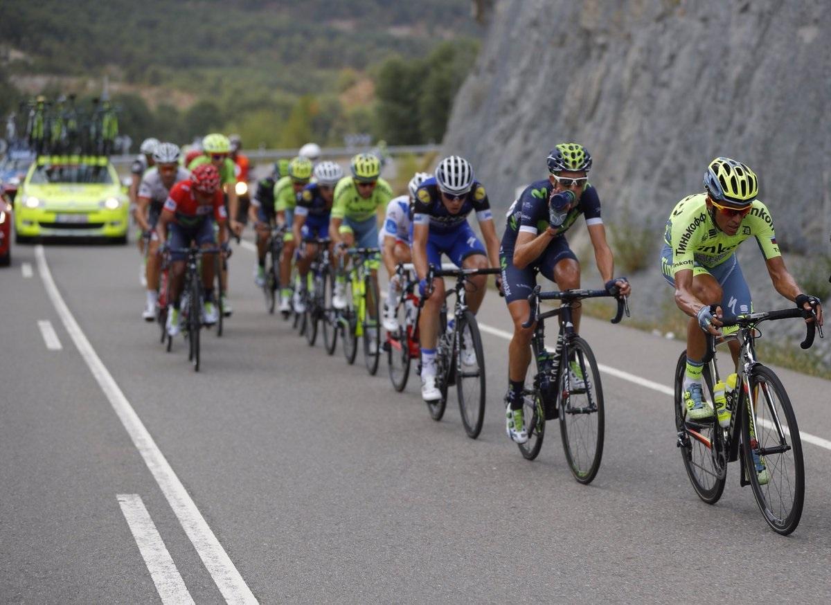 Contador tirando del corte protagonista del día